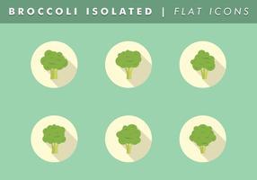 Broccoli Isolerade Ikoner Vector Gratis