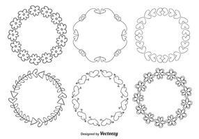 Nette Handgezeichnete Art-Rahmen vektor