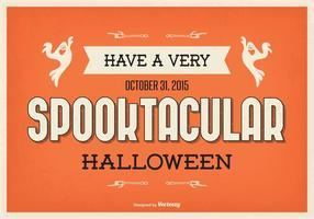 Typografisk Halloween Illustration vektor