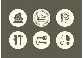 Gratis Shoe And Key Maker Vector Ikoner
