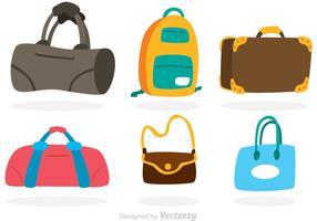 Vektor Tasche Bunte Icons