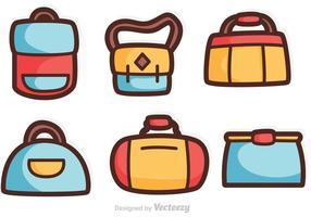 Tecknad väska vektorer