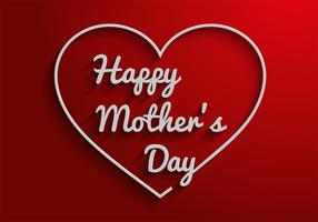 Freie Mütter Tag Text Vektor