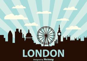 London city scape bakgrund vektor