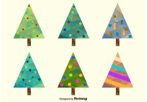 Polygonale Weihnachtsbäume