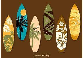 Dekorierte Surftische vektor