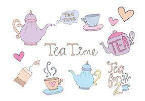 Gratis hög te vektor serie