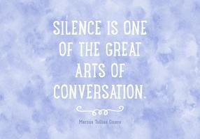 Gratis Silent Strength Quote Vector Bakgrund