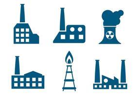 Flache Fabrikvektoren