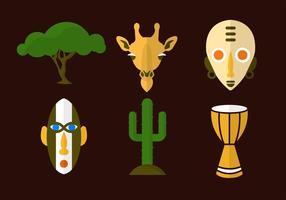 Afrika Vektor Icons