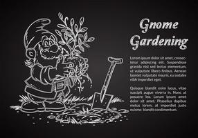 Gratis Kritt Dragad Gnome Vektor Illustration