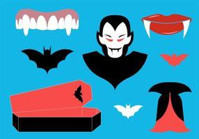 Sammlung von Dracula-Symbolen vektor