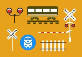 Järnväg vektorelement vektor