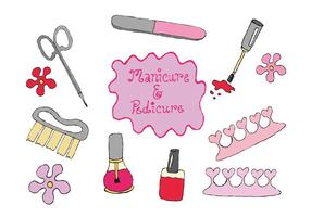 Gratis Manicure Pedicure Vector Series