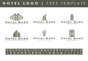 Hotels Logo Vorlagen Vektor frei