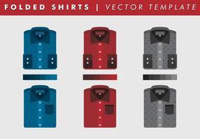 Gefaltete beiläufige Hemden Schablone vektor frei