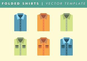 Basic gefaltete Hemd-Vorlage Vector Free