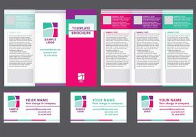 Business Fold Broschyr Vector