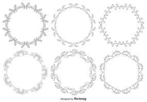 Handgezeichneter Style Frame Set vektor