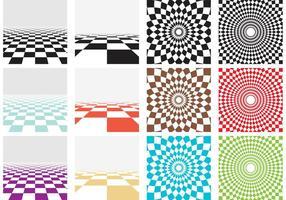 Vector Checker Board Muster