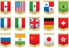 Väggvektor flaggvektorer