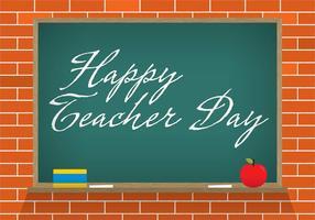 Vektor lärare dag krita bräda