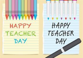 Vektor lärare dag papper