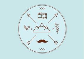 Hipster vektor emblem