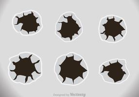 Bullet Holes Effekt auf Papier vektor
