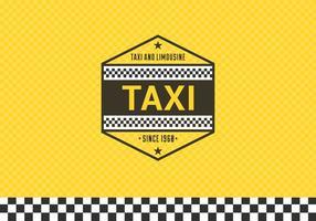 Free Taxi Label mit karierten Hintergrund