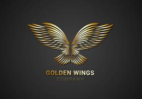 Gratis Golden Wings Logo Vector