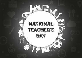 Freier Lehrer Tag Vektor