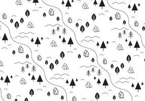 Einfache Landschaft Vektor Hintergrund