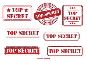 Top Secret Rubber Stempel Set vektor