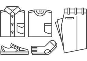 Gratis Outfit Ikoner Vector Pack