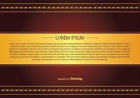 Elegant rödbrun och guld stil bakgrund vektor
