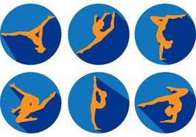 Gymnastik Siluettvektorer