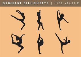Gymnast kvinnor silhuett vektor gratis