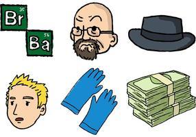 Brechende schlechte Karikatur-Vektorserie
