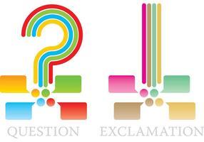 Frage- und Ausrufezeichen-Vektoren vektor