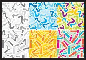 Frågor Och Utrop Bakgrunder vektor