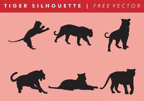 Tiger silhuett vektor gratis