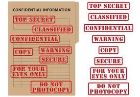 Top Secret & Vertraulich Stempel Vektoren