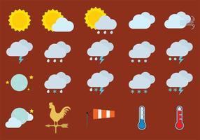 Vädervektorikoner vektor