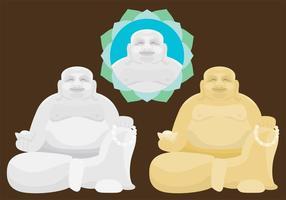 Fette Buddha-Vektoren vektor