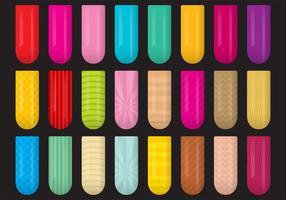 Dekorerade nagelvektorer