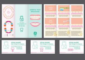 Tandläkare Fold Broschyr Vector