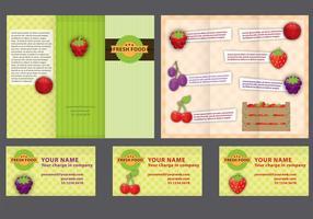 Farm Fold Brochure Vector
