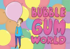 Bubblegum Hintergrund Vektor