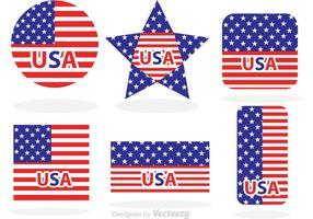 Gemacht in USA-Flaggen-Vektoren vektor